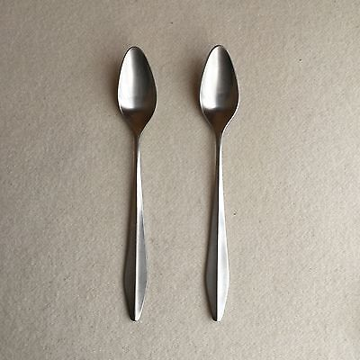 2 Vintage 60s NORSTAAL Stainless INKA Norway GRAPEFRUIT Spoons~NORSK Staalpress
