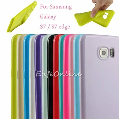 Ultra-Slim Soft TPU Silicone Back Case Cover Skin New for Samsung S7 / S7 Edge