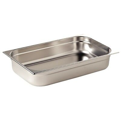 6 x Full Size 1/1 40mm Bain Marie Gastronorm GN Pan Tray Stainless Steel