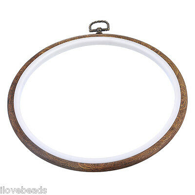 LOVE 15cm Wooden Cross Stitch Machine Embroidery Hoop Ring Round Sewing