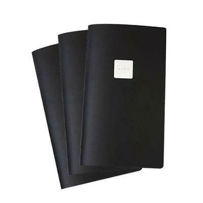5x Deluxe Tuscan Leather Menu witn Wine Badge, Black, A4, Narrow, Restaurant