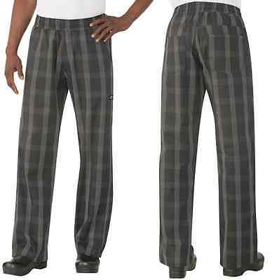 Chef Pants Black Plaid Better Built Baggy Chefworks Uniforms All Sizes XS - 4XL