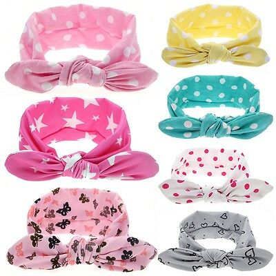 Infant Baby Bow Hnot Headband Girls Turban Knot Head Wrap Kid Floral Hair Band G