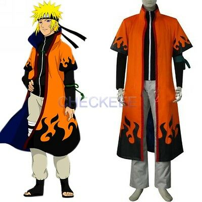 Anime Naruto Uzumaki 6th Hokage Halloween Cosplay Costume cloak