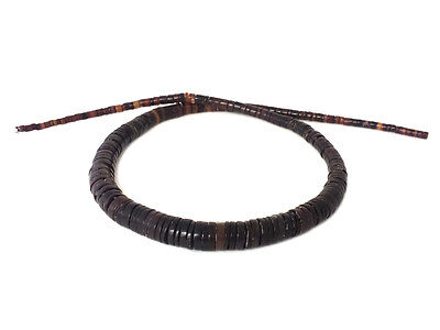 Graduated Black Pen Shell Heishi Beads (16 Inches Strand)