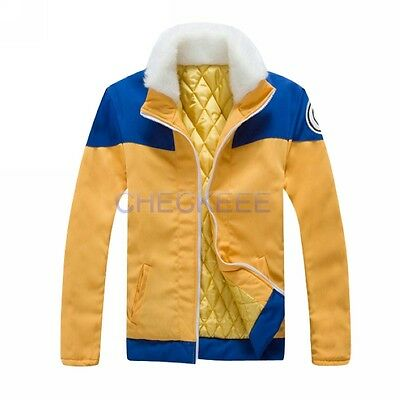 Anime Naruto Uzumaki Hokage thick coat jacket Cosplay Costume