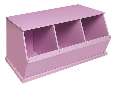 Badger Basket Three Bin Storage Cubby - Lilac 97742 Storage Cubby NEW