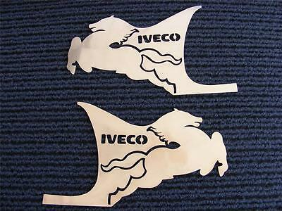 2 pcs Decoration Hand Door For IVECO STRALIS Made Of Polished Stainless Steel