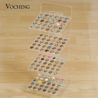 Vocheng Four Layers Detachable Acrylic Display Stand Jewelry for Snaps NN-477