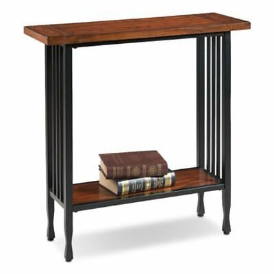 Leick Furniture 11232 Ironcraft Hall Stand-Mission Oak
