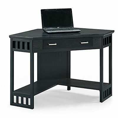 Leick Furniture 83430 Corner Computer and Writing Desk-Black Finish