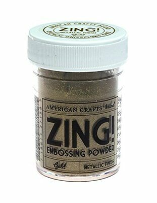 American Crafts Zing Metallic Embossing Powder, 1-Ounce, Gold (ZME-27158) CXX