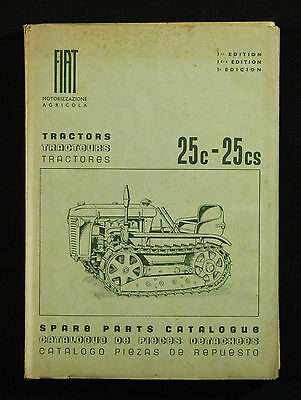 Fiat Tractors 25 c 25 cs spare parts catalogue pieces detachees 1st ed