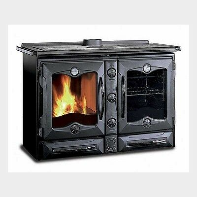 """America Black"" Wood Cook Stove by La Nordica"