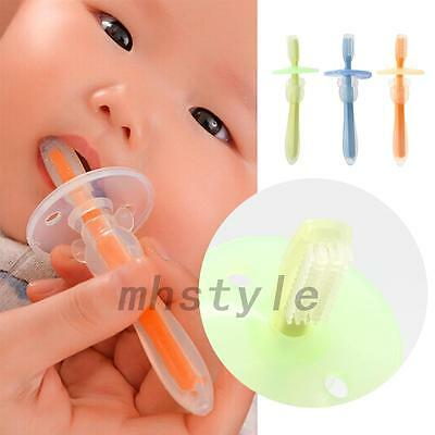 1PCS Baby Teeth Care Safet Soft Silicone Toothbrush Training Massager Brush