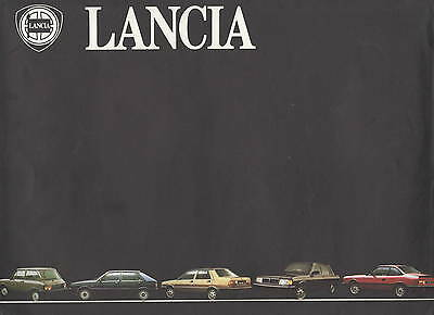 Lancia • 1984 ± • Presentation set 9 brochures • Delta Gamma Beta A112 • Dutch