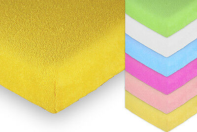 Terry Towelling Fitted Sheet 120x60 Nursery Baby Cot/ Cotbed/ Mattress/ Frotte