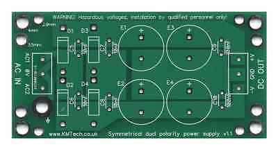 Dual Symmetrical Power Supply PCB Only DIY For Audio Amp