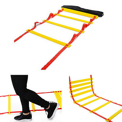 4m Agility Ladder Speed  8 Adjustable Rung Training & Footwork Drills Exercise