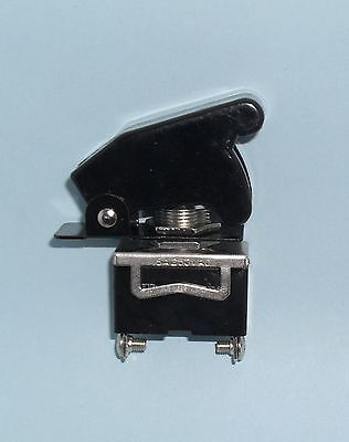 1 SPST On/Off Full Size Toggle Switch with BLACK Safety Cover