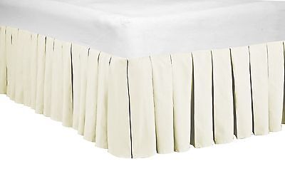 Serenta 14 Inches Drop Microfiber Dust Ruffle Bed Skirt, Queen and King