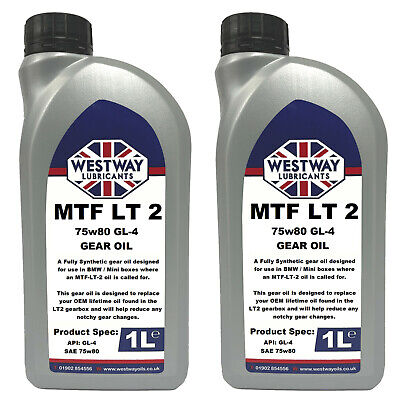 2L Mtf-Lt-2 Synthetic Gear Oil For Bmw Mini Lt2 Westway Lubricants