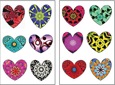 Premium Rainbow Heart Tattoos, Valentine's Day Party Favors, Temporary Tattoo