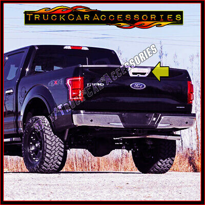 AAL For Ford F-150 15-17 Chrome Tailgate Cover w// Camera /& Sensor Hole w//o KH