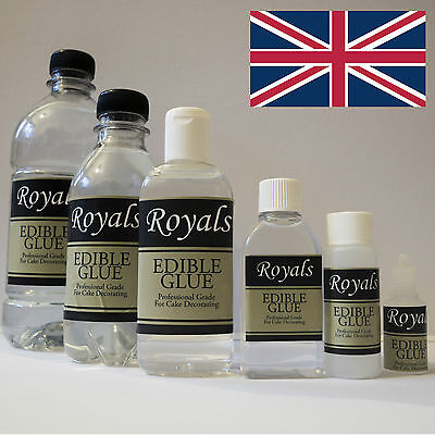 Royals Edible Glue For Icing Sugarcraft Cake Decorating Food Topper All Sizes UK