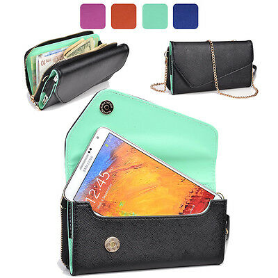 KroO Fad PU Leather Protective Wallet Case Clutch Cover for Smart-Phones XLUB1