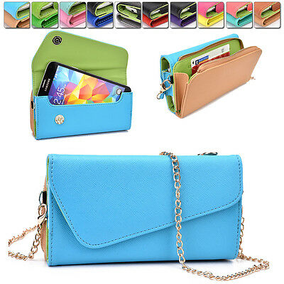 Womens PU Leather Wallet Case Cover & Crossbody Clutch for Smart-Phones MLUB8