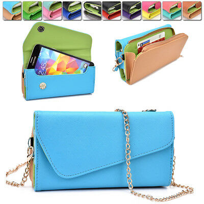 Womens PU Leather Wallet Case Cover & Crossbody Clutch for Smart-Phones MLUB34