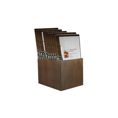 Wooden Menu Boards, Narrow with Side Lever Clamp & Storage Box, Set of 15, Cafe