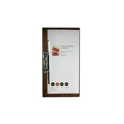 Wooden Menu Board, Narrow with Side Lever Clamp, Restaurant / Cafe Menus