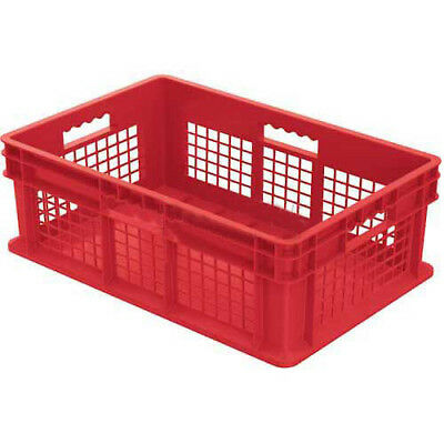 """Akro-Mils Straight Wall Container, Mesh Sides Solid Base, 23-3/4""""L x 15-3/4""""W x"""