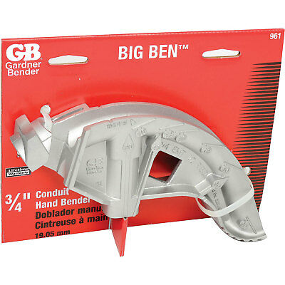 "Big Ben Aluminum Bender, 3/4"" Emt, 1/2"" Rigid"