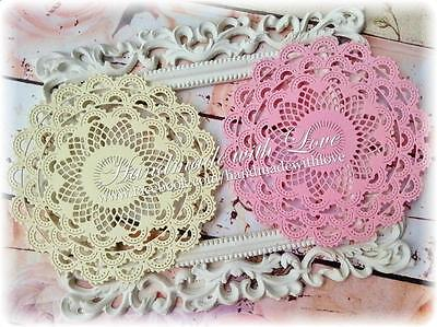 Layered Lace Doily. 1 pack of 10pcs. Material double sided cardstock.