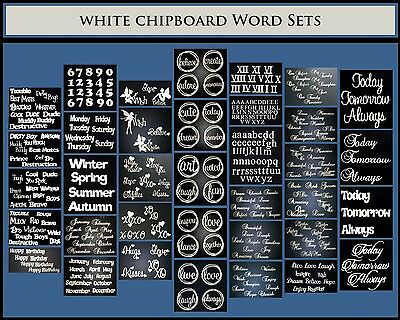 White Chipboard - Word Sets