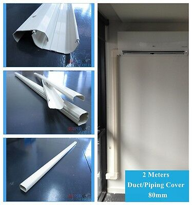 Air Conditioner Pipe/Cable/Duct Cover 80mm PVC 2M