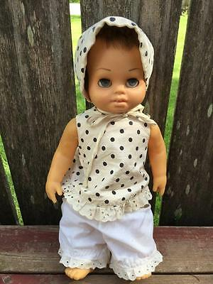 1962 Mattel CHATTY BABY Tiny Chatty Brother Doll Pull String