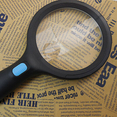 High Brightness10 LED  2X 5X Handheld Magnifier Repair Reading Stamp Collection