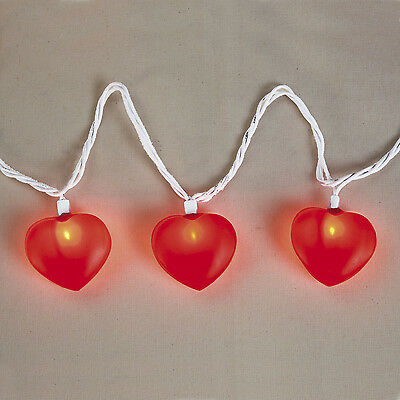 8ft String of Heart Shaped Red Lights Valentine's Day Decoration