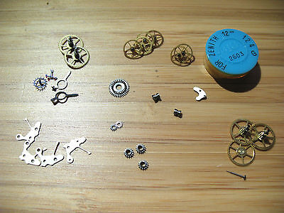 Zenith 12.4,12.4.5 Assorted New Old Stock Vintage Movement Parts