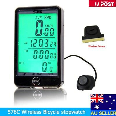 Hot WIRELESS BICYCLE CYCLE COMPUTER BIKE SPEEDOMETER + TOUCH! AU Stock