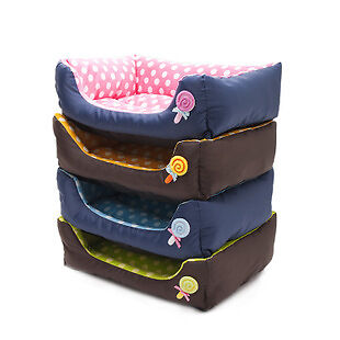 Pet Dog/ Cat colourful Candy with spots washable bed