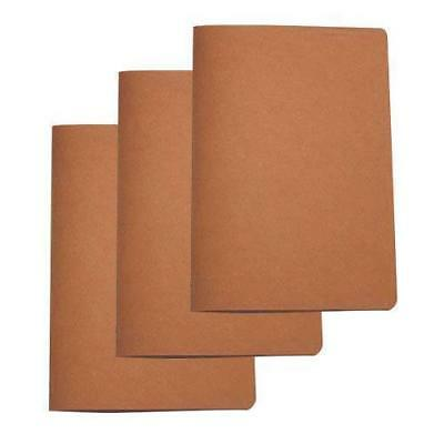 5x Deluxe Tuscan Leather Menu, Natural, A4 w 4 Pockets, Restaurant Menus