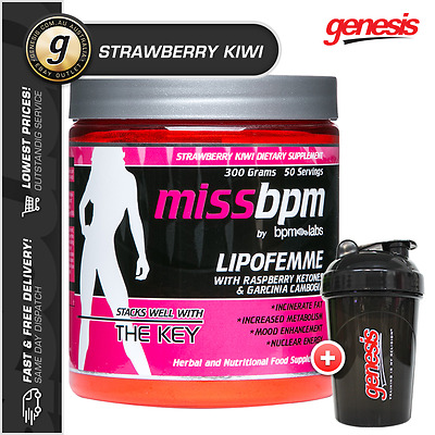 Miss BPM Labs LIPOFEMME 50 Serve *STRAWBERRY KIWI* Thermogenic Womens Fat Burner