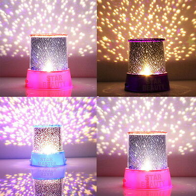 Romatic Cosmos Moon Star Master Projector LED Starry Night Sky Light Lamp Baby#F