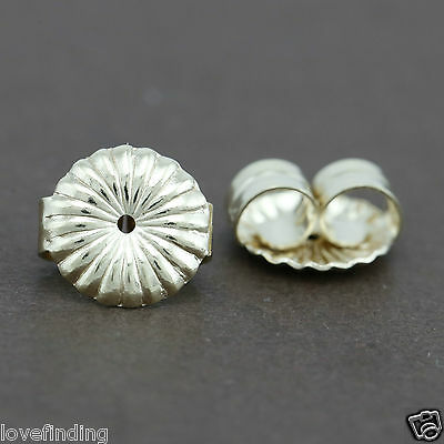 Genuine 9CT Solid Yellow Gold Flower Butterfly Earring Backs 9mm - 1 Pair
