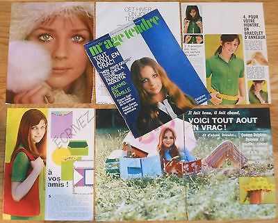DELPHINE DESYEUX french clippings 1960s photos france actress magazine